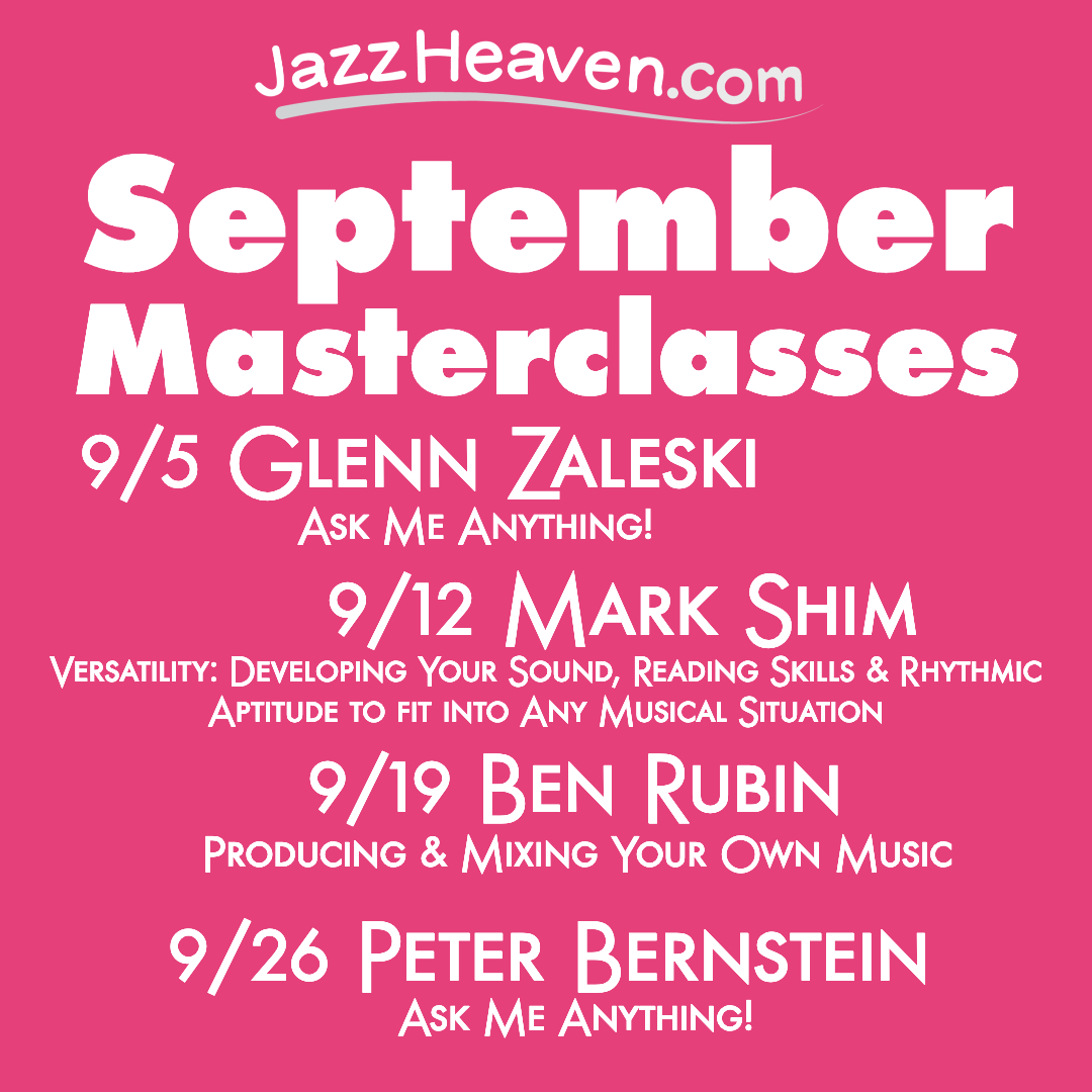 Making a Record Master Class Sunday Sept 19
